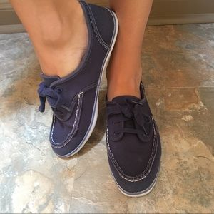 Ked's navy boat shoes